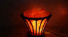 Cane Flower salt lamp