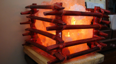 Cane box Fire salt Lamp